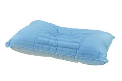 Pillow. Blue color pillow isolated in white Royalty Free Stock Photography