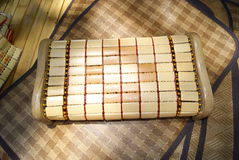 Pillow. This is made of bamboo pillow, can rise to health care function. It's summer, the hot weather, the pillow of bamboo to make by people like stock photography