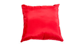 Pillow. Red pillow isolated on white Royalty Free Stock Photo