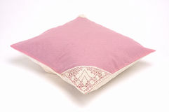Pillow. Pink pillow isolated at white background Royalty Free Stock Photos