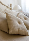 Pillow. Decorative pillow on a bed in a bedroom Royalty Free Stock Image
