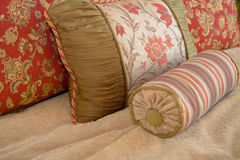 Pillow Arrangement. Stylish arrangement of decorative pillows Royalty Free Stock Photography