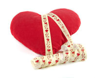 Pillow as heart Royalty Free Stock Photography