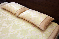 Pillow on a bed stock photography