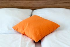 Pillow On A Bed Royalty Free Stock Photos