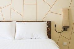 Pillow bed Royalty Free Stock Photos