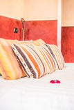 Pillow on bed Royalty Free Stock Photos