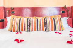Pillow on bed Royalty Free Stock Photography