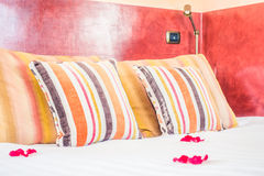 Pillow on bed Royalty Free Stock Image