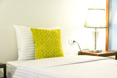 Pillow On A Bed Royalty Free Stock Photography