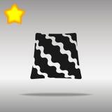Pillow black Icon button logo symbol Stock Image