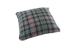 Pillow blue shade plaid Stock Photography