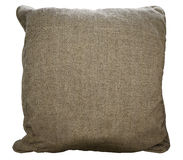 Pillow. Brown pillow on white isolate Royalty Free Stock Images