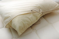 Pillow with cover. Closeup shot of pillow with cover royalty free stock images