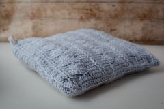 Pillow crochet Stock Image