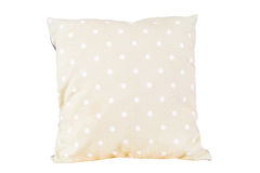 Pillow dot green color on white Royalty Free Stock Photography