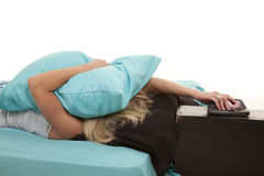 Pillow face clock Royalty Free Stock Photo