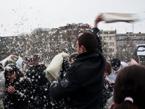 Pillow fight Brno Royalty Free Stock Photography
