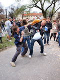 Pillow Fight Day 2012, Lublin, Poland Stock Photography
