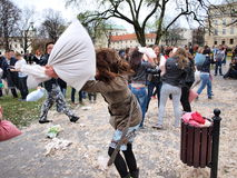 Pillow Fight Day 2012, Lublin, Poland Stock Image