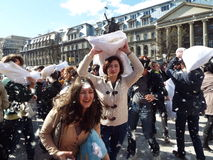 Pillow Fight Day, Bucharest Stock Photography