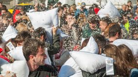 Pillow Fight Day 2015 Royalty Free Stock Photography