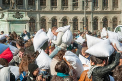 Pillow Fight Day 2015 Stock Photos