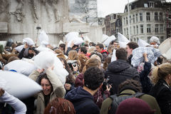 Pillow Fight Day 2016 Royalty Free Stock Photos
