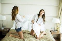 Pillow fighting Royalty Free Stock Photos