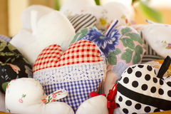 Pillow Hearts Stock Photography