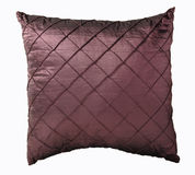 Pillow isolated on white backround. Purple pillow isolated on white backround with clipping path Royalty Free Stock Photos