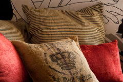 Pillow layout Stock Images