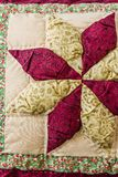 Pillow with Patchwork Design Stock Images