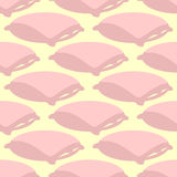 Pillow pattern. Bed linen background. Textile texture Royalty Free Stock Images