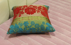 Pillow on a pink matress Royalty Free Stock Images