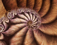 Pillow Puffs. Soft brown textured pillow spiral Royalty Free Stock Photography