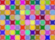Pillow rainbow background. Pillow squares on backgound illustration multicolored Vector Illustration