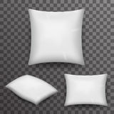 Pillow Realistic 3d Poster Transparent Background Icon Template Mockup Design Vector Illustration Royalty Free Stock Images