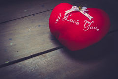 pillow red heart shaped Royalty Free Stock Photo