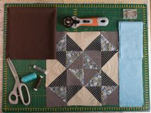 Pillow shroud comfort. Elements for a pillow in the style of a patchwork quilting Stock Image