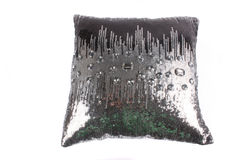 pillow silver Royaltyfria Bilder