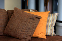 Pillow on sofa. In hotel Stock Image