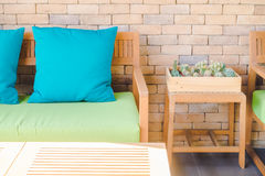 Pillow on sofa Stock Photography