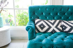 Pillow on sofa decoration interior. In living room Stock Images