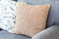 Pillow on sofa decoration interior. In living room Stock Image