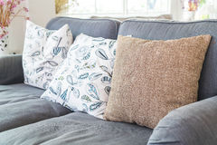 Pillow on sofa decoration interior. In living room Royalty Free Stock Photography
