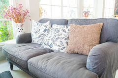 Pillow on sofa decoration interior. In living room Stock Photography