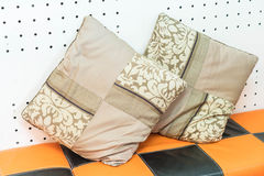 Pillow on sofa decoration Royalty Free Stock Images
