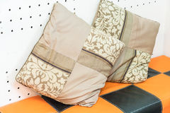 Pillow on sofa decoration Stock Images