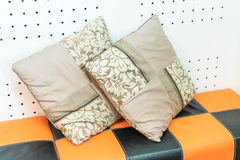 Pillow on sofa decoration. Interior in living room Stock Photography